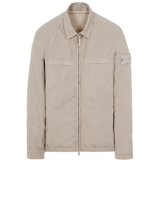 STONE ISLAND 119F4 GHOST PIECE_STRETCH COTTON TELA / RESIN TREATED NYLON - REVERSIBLE Over Shirt Herr Beige