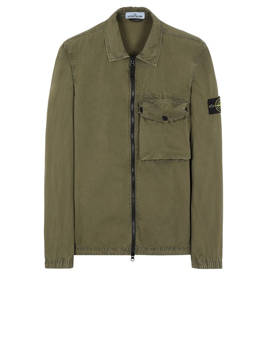 STONE ISLAND 117WN T.CO 'OLD'	 Over Shirt Man Olive Green