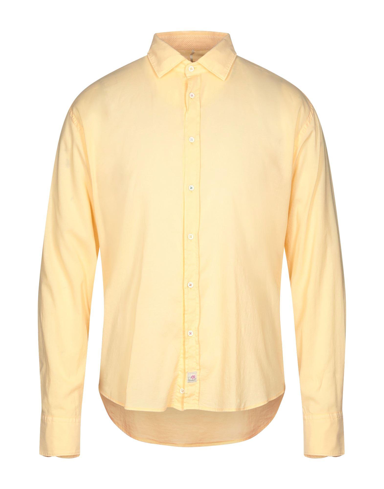 《セール開催中》PANAMA メンズ シャツ あんず色 S コットン 96% / ポリウレタン 4%