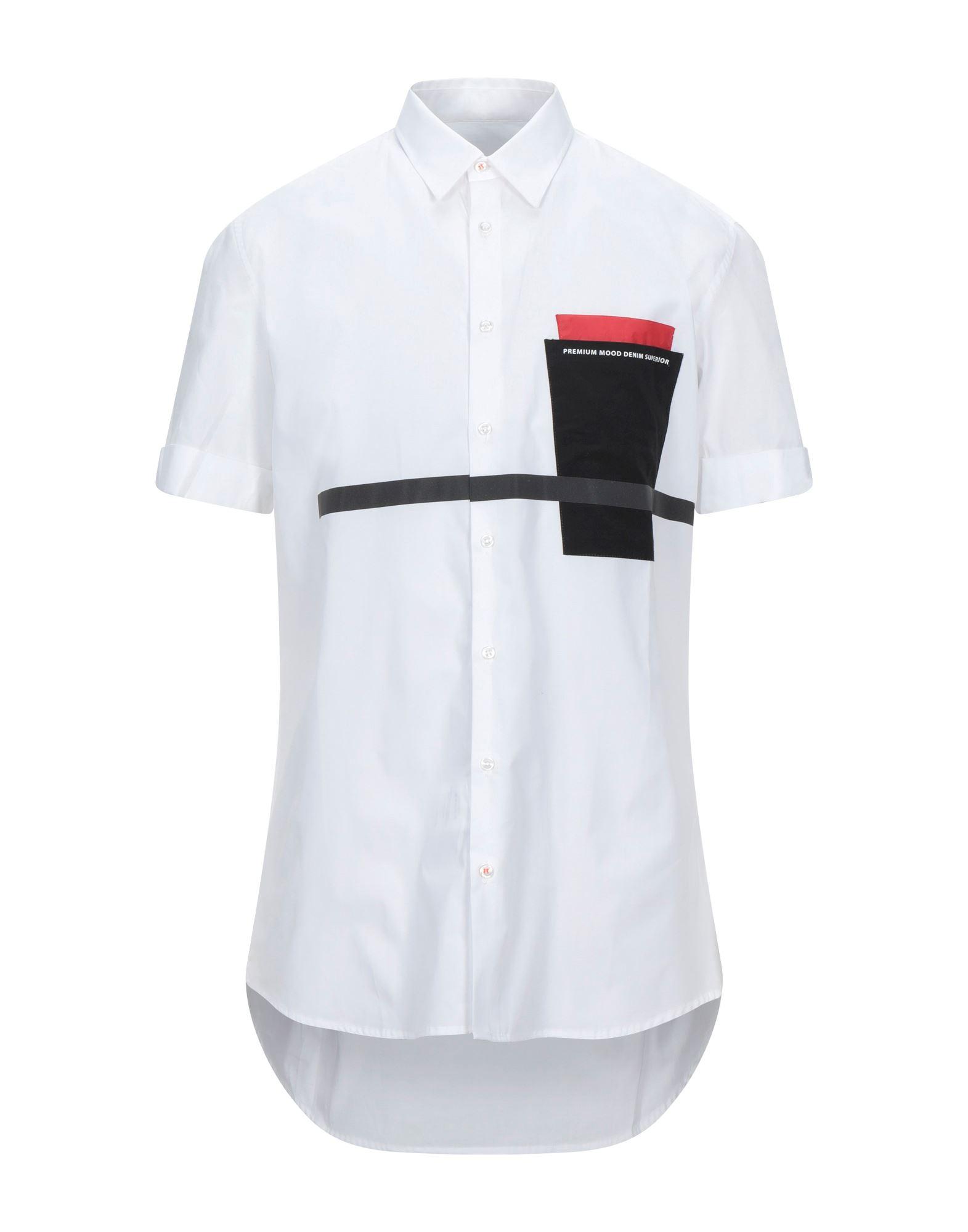 《セール開催中》PMDS PREMIUM MOOD DENIM SUPERIOR メンズ シャツ ホワイト S コットン 100%