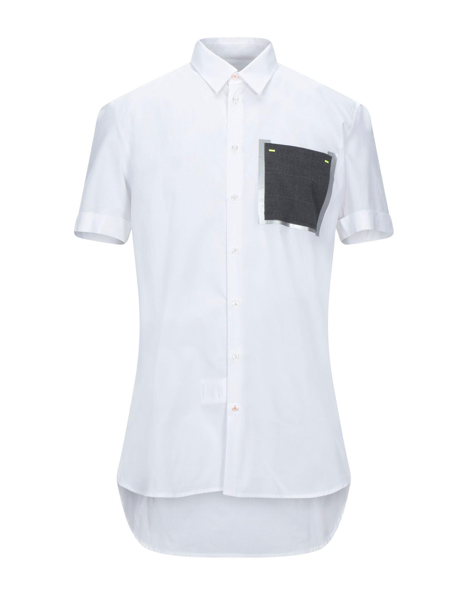 《セール開催中》PMDS PREMIUM MOOD DENIM SUPERIOR メンズ シャツ ホワイト M コットン 100%
