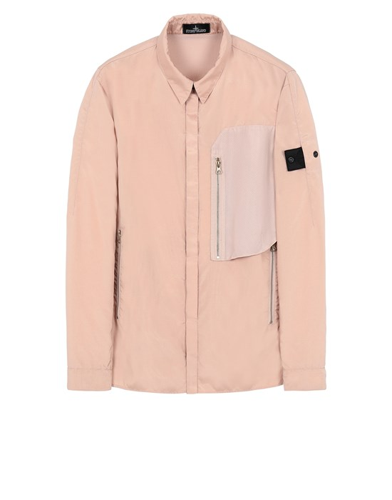 STONE ISLAND SHADOW PROJECT 10102 VENTED OVERSHIRT Long sleeve shirt Man Pastel pink