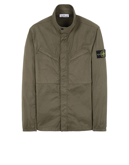 STONE ISLAND 10119 Over Shirt Man Olive Green