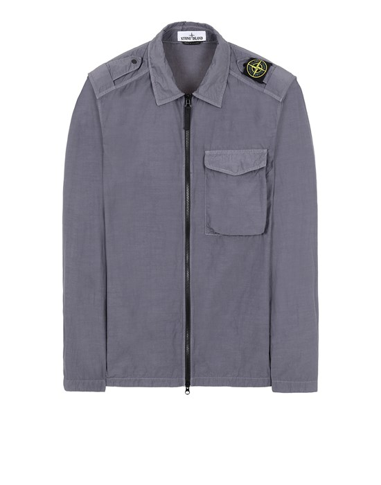 STONE ISLAND 10802 NASLAN LIGHT Over Shirt Man Blue Grey