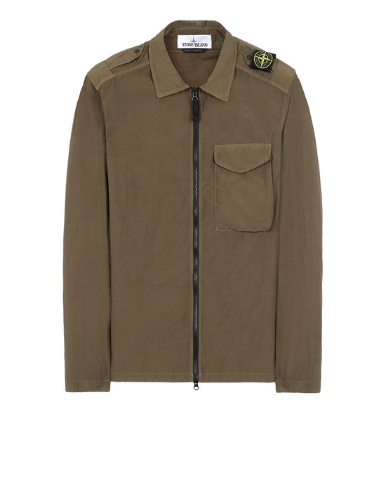 STONE ISLAND 10802 NASLAN LIGHT Over Shirt Man Olive Green