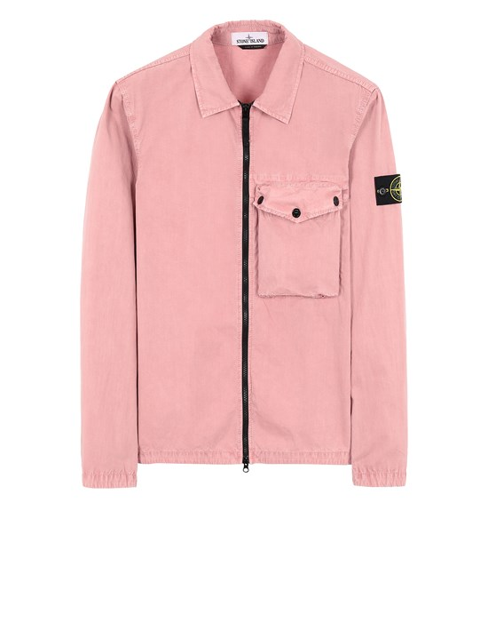 STONE ISLAND 117WN T.CO 'OLD' OVER SHIRT Man Pink Quartz
