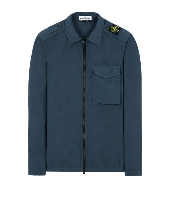 STONE ISLAND 10802 NASLAN LIGHT OVER SHIRT Man Avio Blue