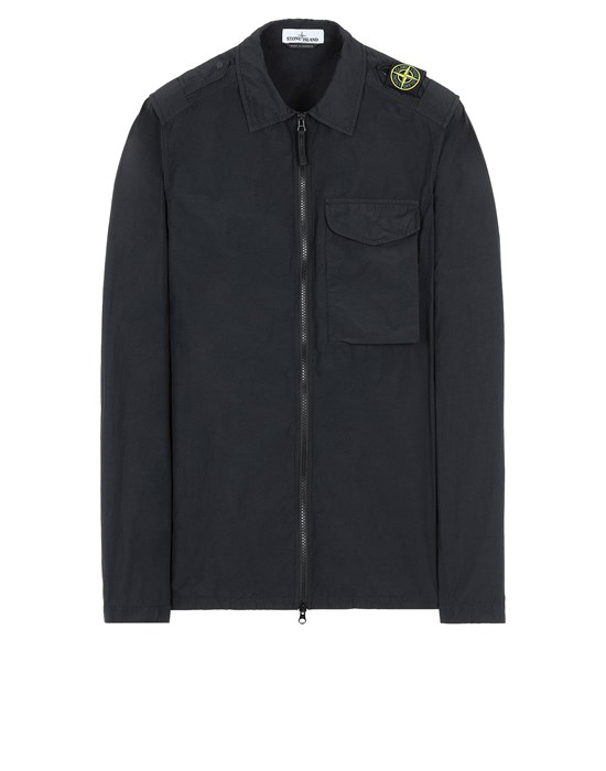 STONE ISLAND 10802 NASLAN LIGHT Over Shirt Herr Schwarz