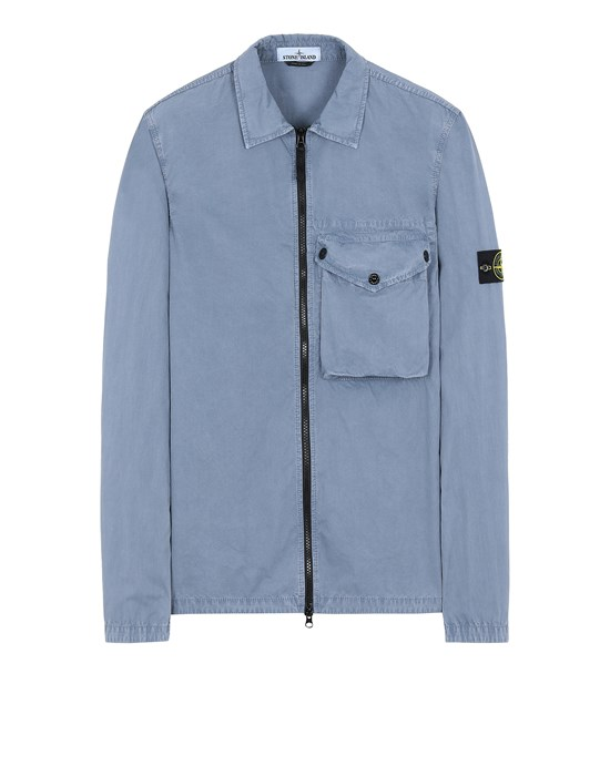 STONE ISLAND 117WN T.CO 'OLD' OVER SHIRT Man Pastel Blue