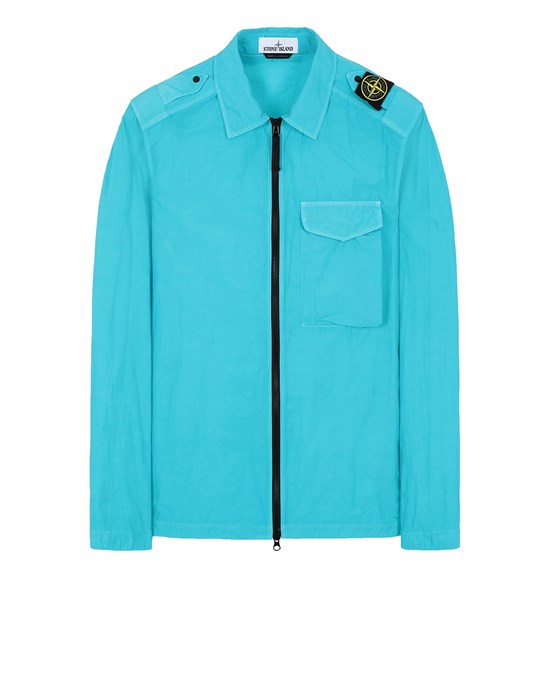 STONE ISLAND 10802 NASLAN LIGHT OVER SHIRT Man Turquoise