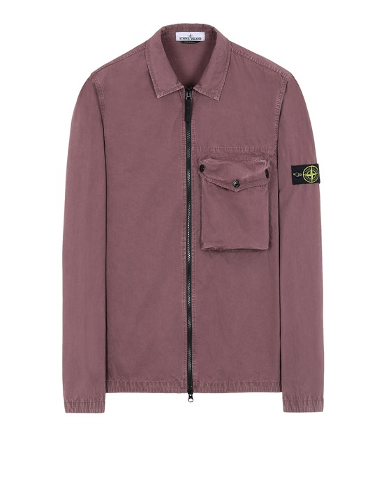 STONE ISLAND 117WN T.CO 'OLD' SURCHEMISE Homme Rouge vigne
