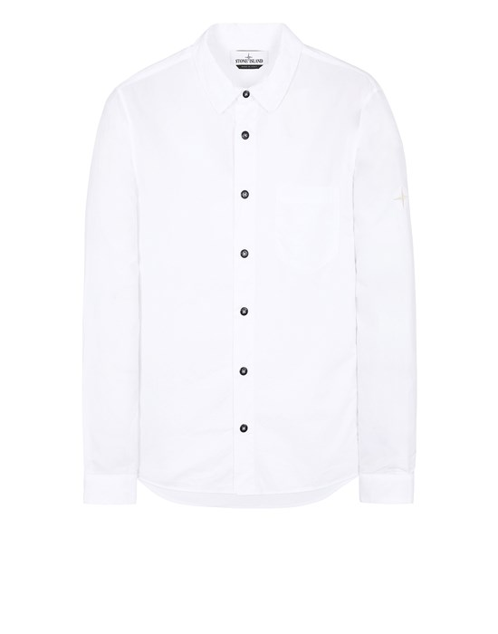 STONE ISLAND 12510 Long sleeve shirt Man White