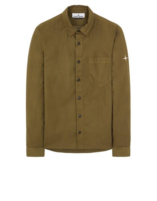 STONE ISLAND 12510 Long sleeve shirt Man Olive Green