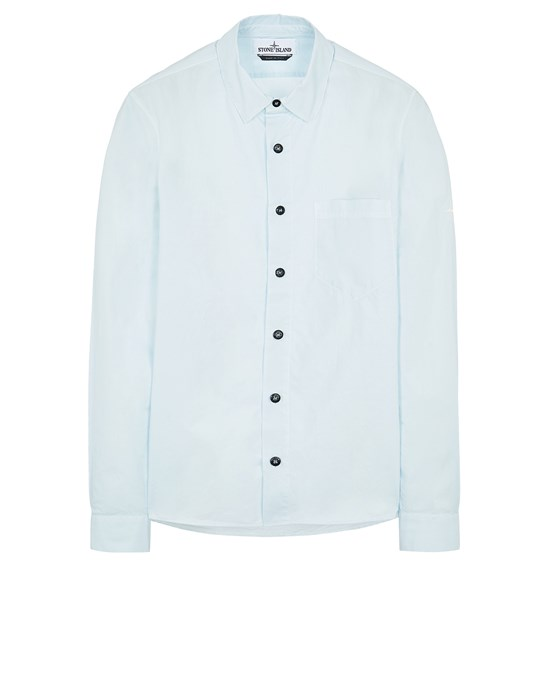 STONE ISLAND 12510 Long sleeve shirt Man Sky Blue