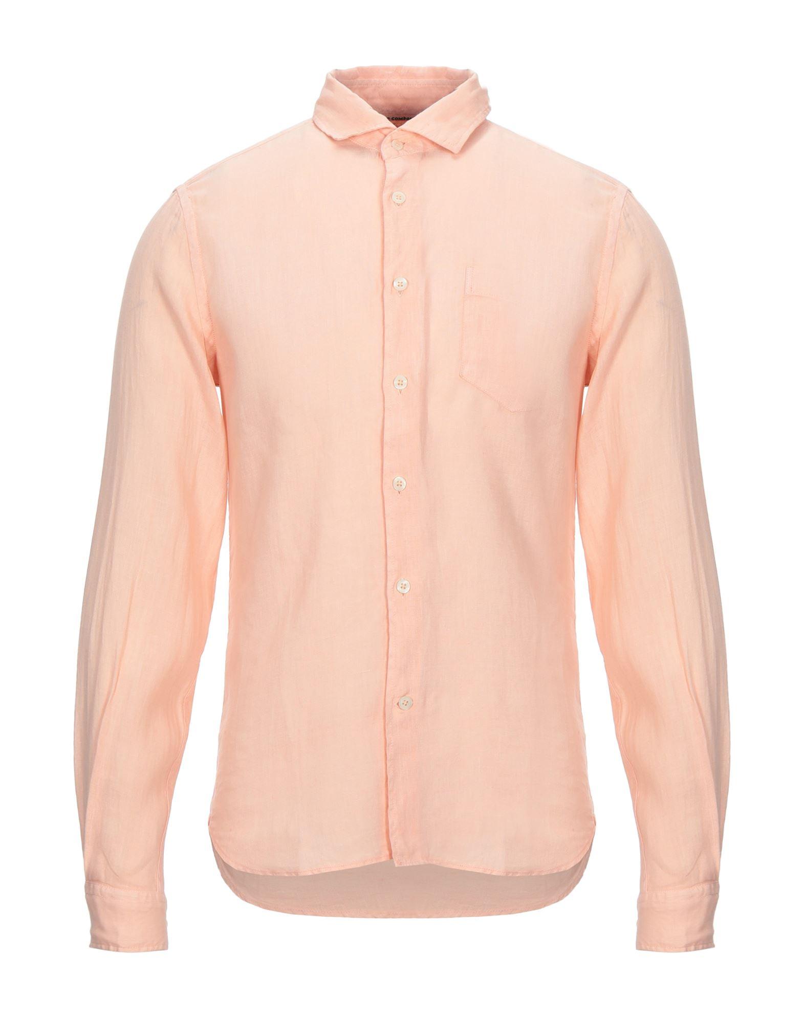 《セール開催中》C.P. COMPANY メンズ シャツ あんず色 S リネン 100%