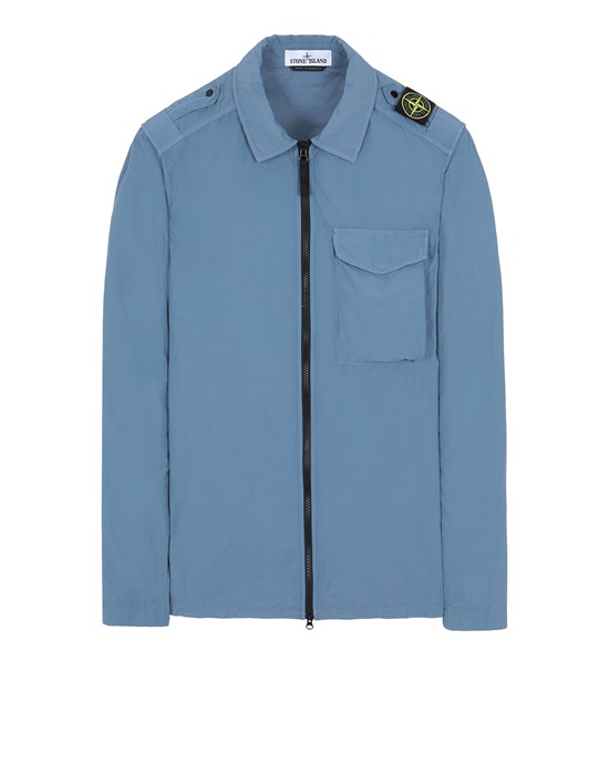 STONE ISLAND 10802 NASLAN LIGHT OVER SHIRT Man Pastel Blue