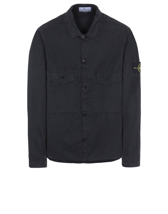 STONE ISLAND 110WN T.CO 'OLD' OVERSHIRT Uomo Nero