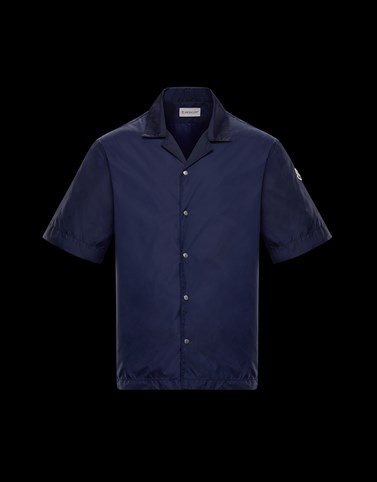 SHIRT Dark blue Category Short-sleeved shirts Man