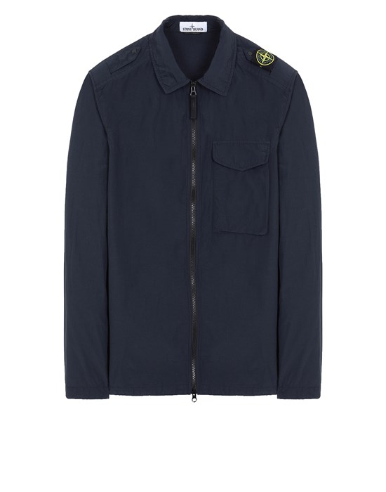 STONE ISLAND 10802 NASLAN LIGHT OVER SHIRT Man Blue