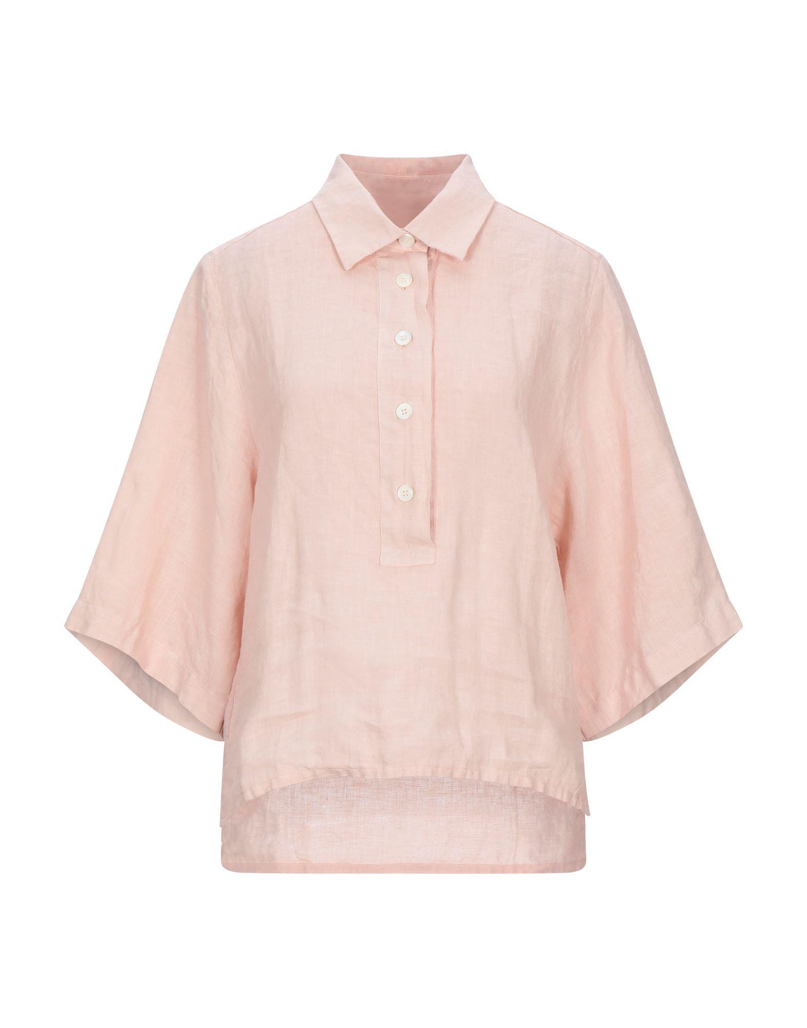 《セール開催中》BARENA レディース シャツ ライトピンク 40 リネン 100%