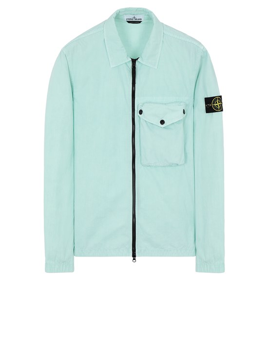 STONE ISLAND 117WN T.CO 'OLD' OVERSHIRT Uomo Acqua