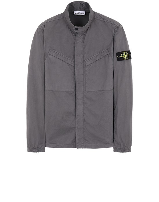 STONE ISLAND 10119 OVER SHIRT Man Blue Grey