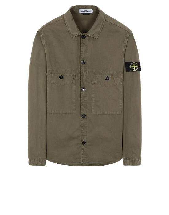 STONE ISLAND 110WN T.CO 'OLD' Over Shirt Herr Olivgrün