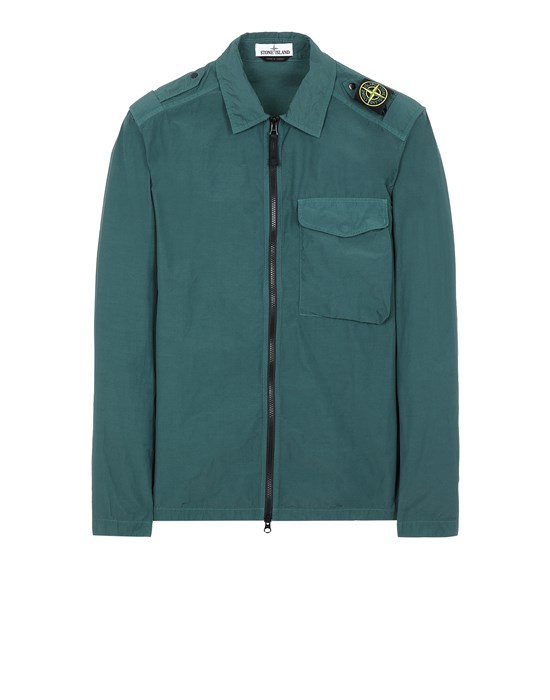STONE ISLAND 10802 NASLAN LIGHT Over Shirt Man Dark Teal Green