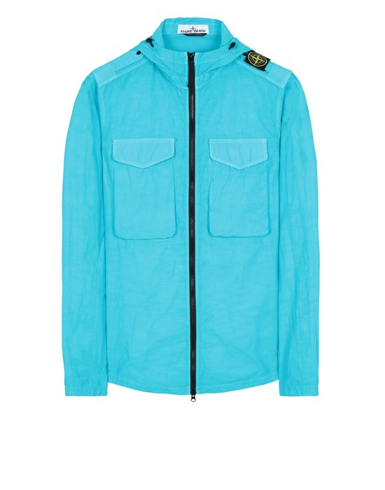 STONE ISLAND 11602 NASLAN LIGHT  Over Shirt Man Turquoise