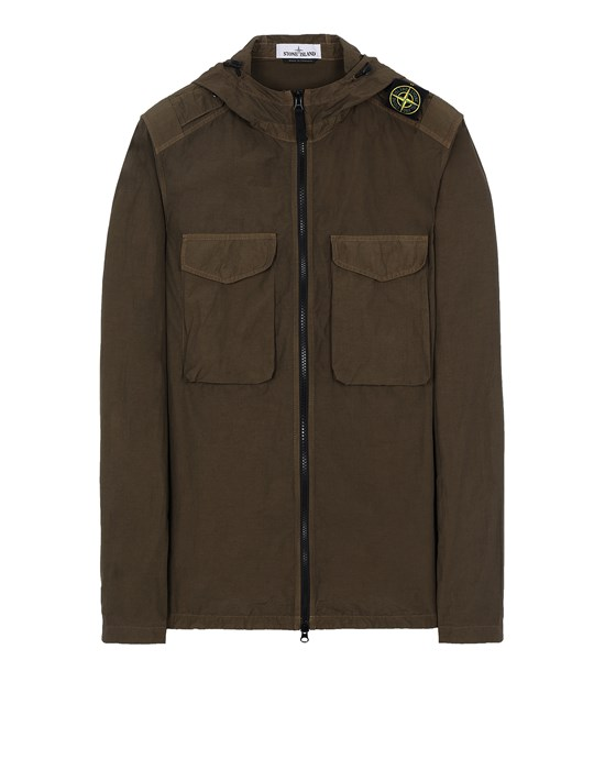 STONE ISLAND 11602 NASLAN LIGHT  Over Shirt Herr Olivgrün