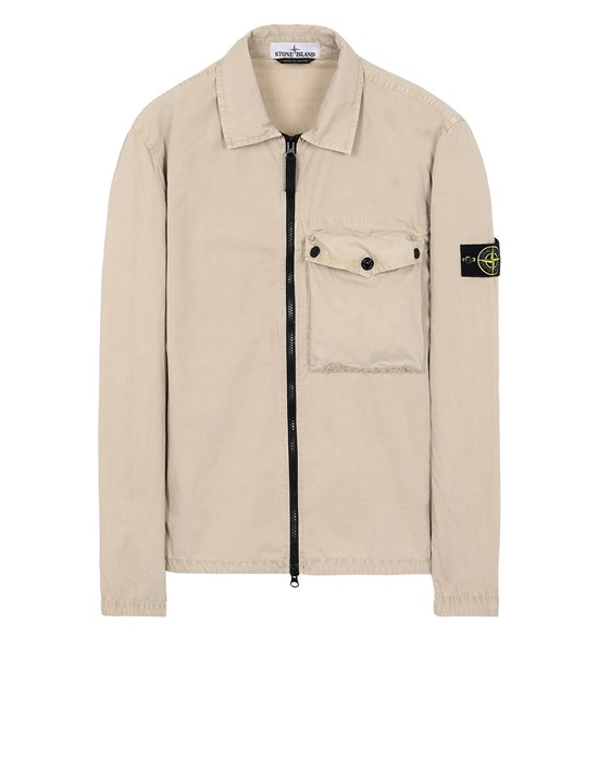 STONE ISLAND 117WN T.CO 'OLD' Overshirt Uomo Sabbia