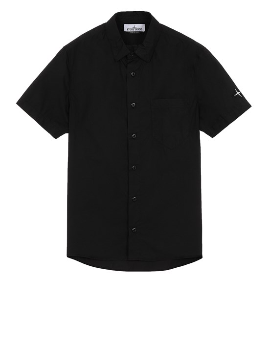STONE ISLAND 11510 Short sleeve shirt Man Black