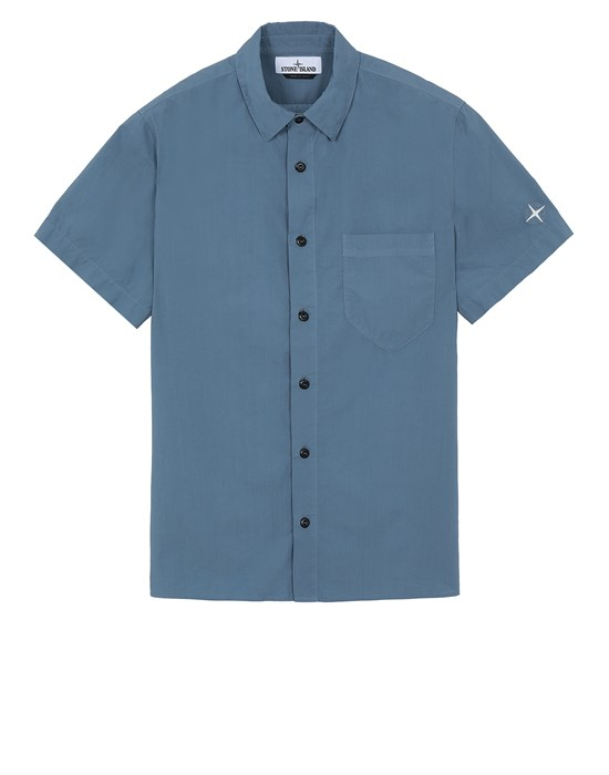 STONE ISLAND 11510 Short sleeve shirt Man Pastel Blue