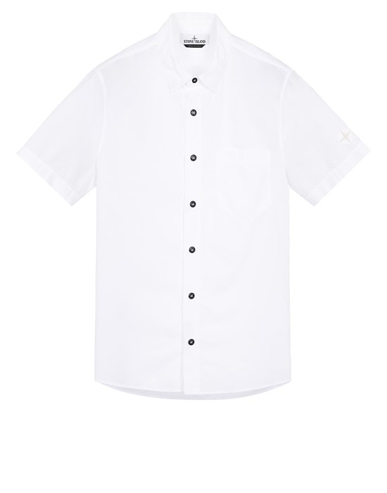 STONE ISLAND 11510 Short sleeve shirt Man White