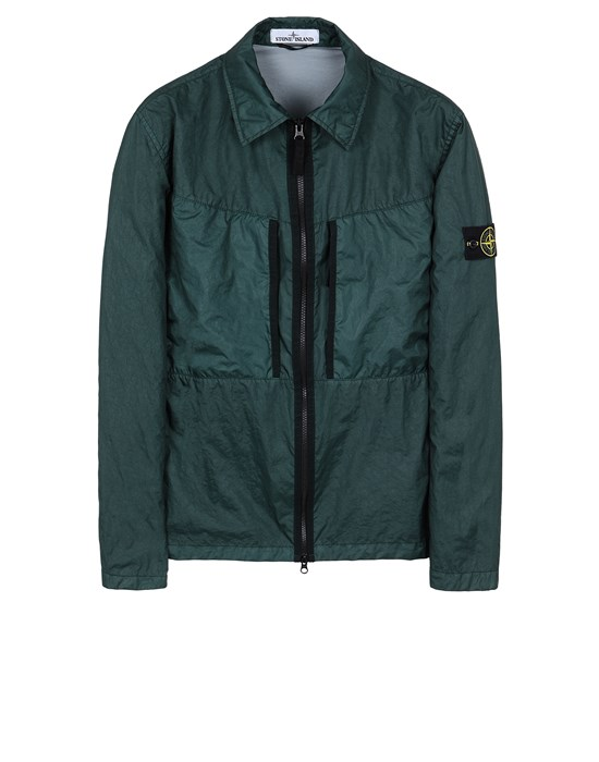 STONE ISLAND 10523 MEMBRANA 3L TC  Over Shirt Man Dark Teal Green