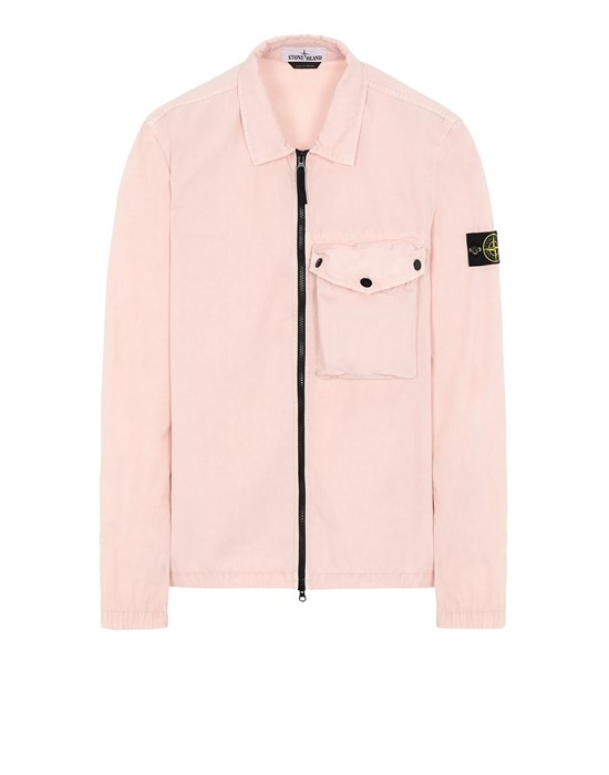 STONE ISLAND 117WN T.CO 'OLD' Over Shirt Man Pastel pink