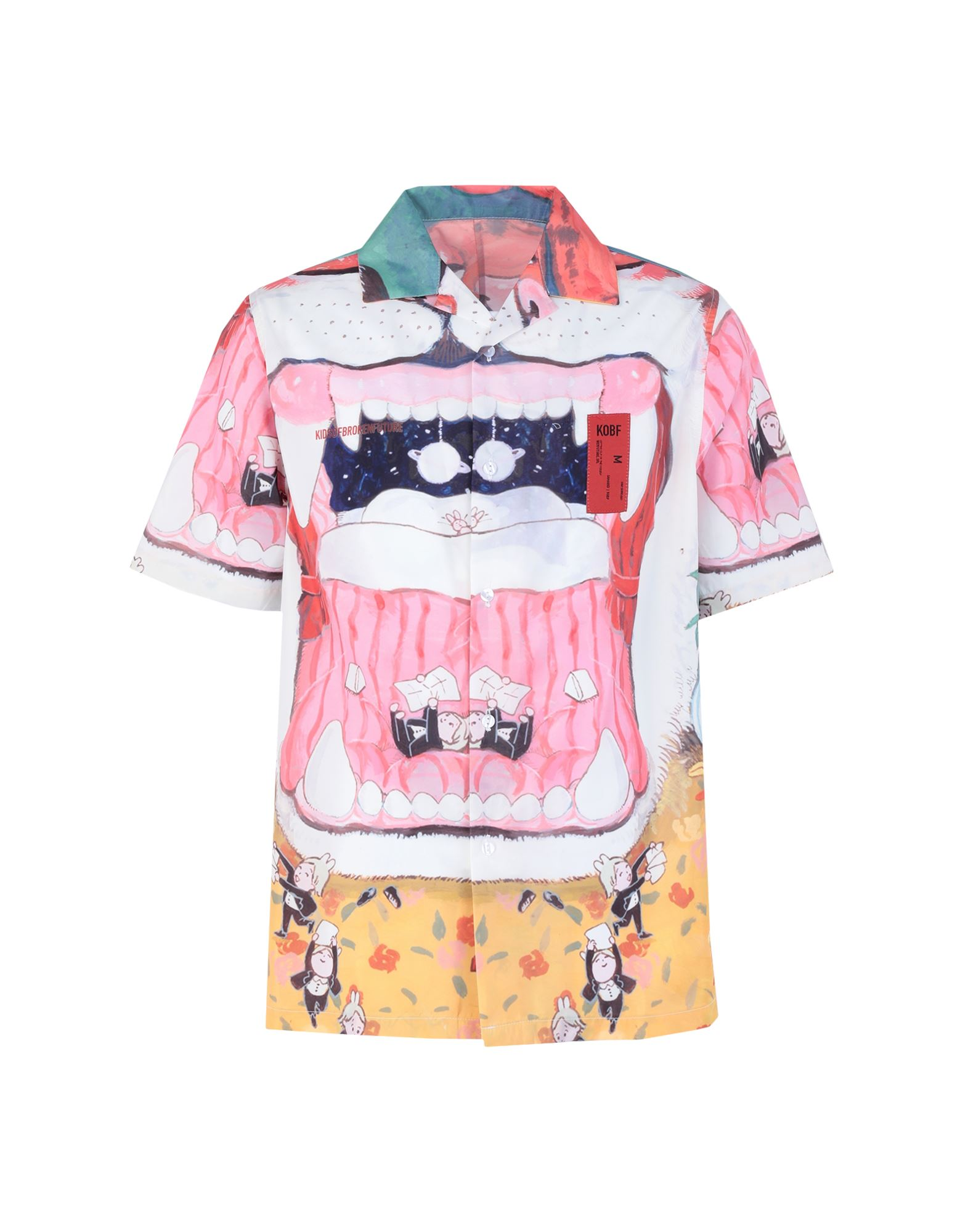 《セール開催中》KIDSOFBROKENFUTURE メンズ シャツ フューシャ S リサイクルポリエステル 100% SERAFIN TIGER SHIRT