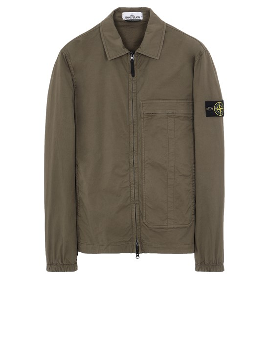 STONE ISLAND 10319 Over Shirt Man Olive Green