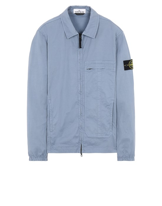 STONE ISLAND 10319 Over Shirt Man Pastel Blue