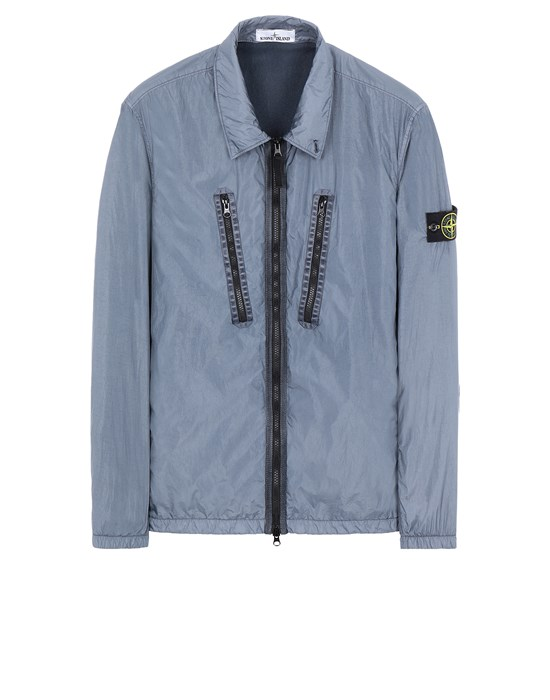 Over Shirt Man 10523 GARMENT DYED CRINKLE REPS NY -TC Front STONE ISLAND