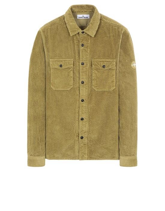 STONE ISLAND 12111 COTTON CORDUROY_REGULAR FIT Long sleeve shirt Man Dark Beige