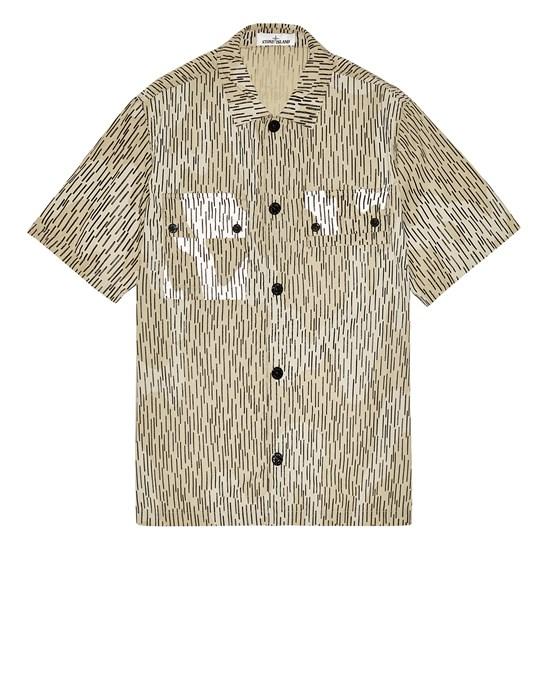 STONE ISLAND 111E2 NASLAN LIGHT 'RAIN CAMO' PRINT  Over Shirt Man Ecru