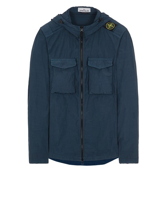 STONE ISLAND 11602 NASLAN LIGHT  Over Shirt Man Avio Blue