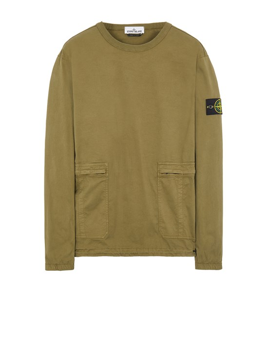 STONE ISLAND 10619 Over Shirt Man Olive Green