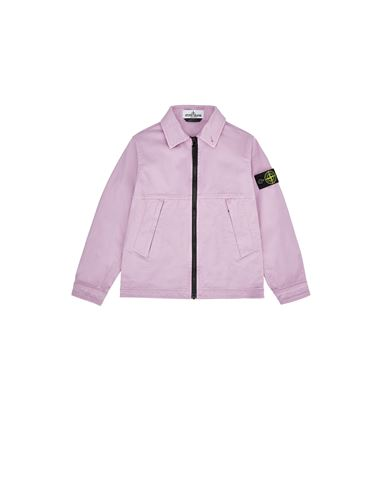 STONE ISLAND KIDS 10711 Over Shirt Man Pink Quartz EUR 247