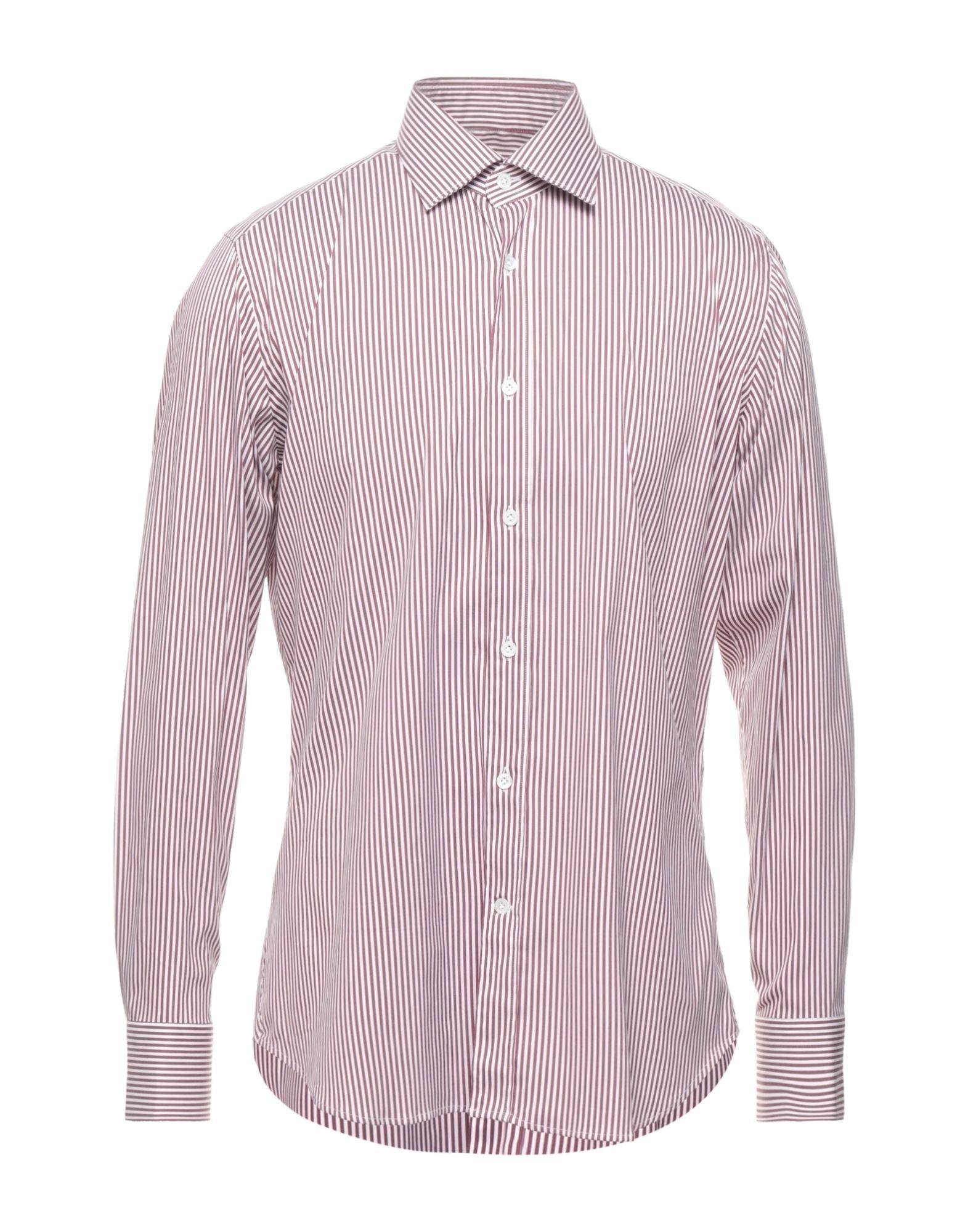 《セール開催中》GUGLIELMINOTTI メンズ シャツ ホワイト 38 コットン 70% / ナイロン 27% / ポリウレタン 3%