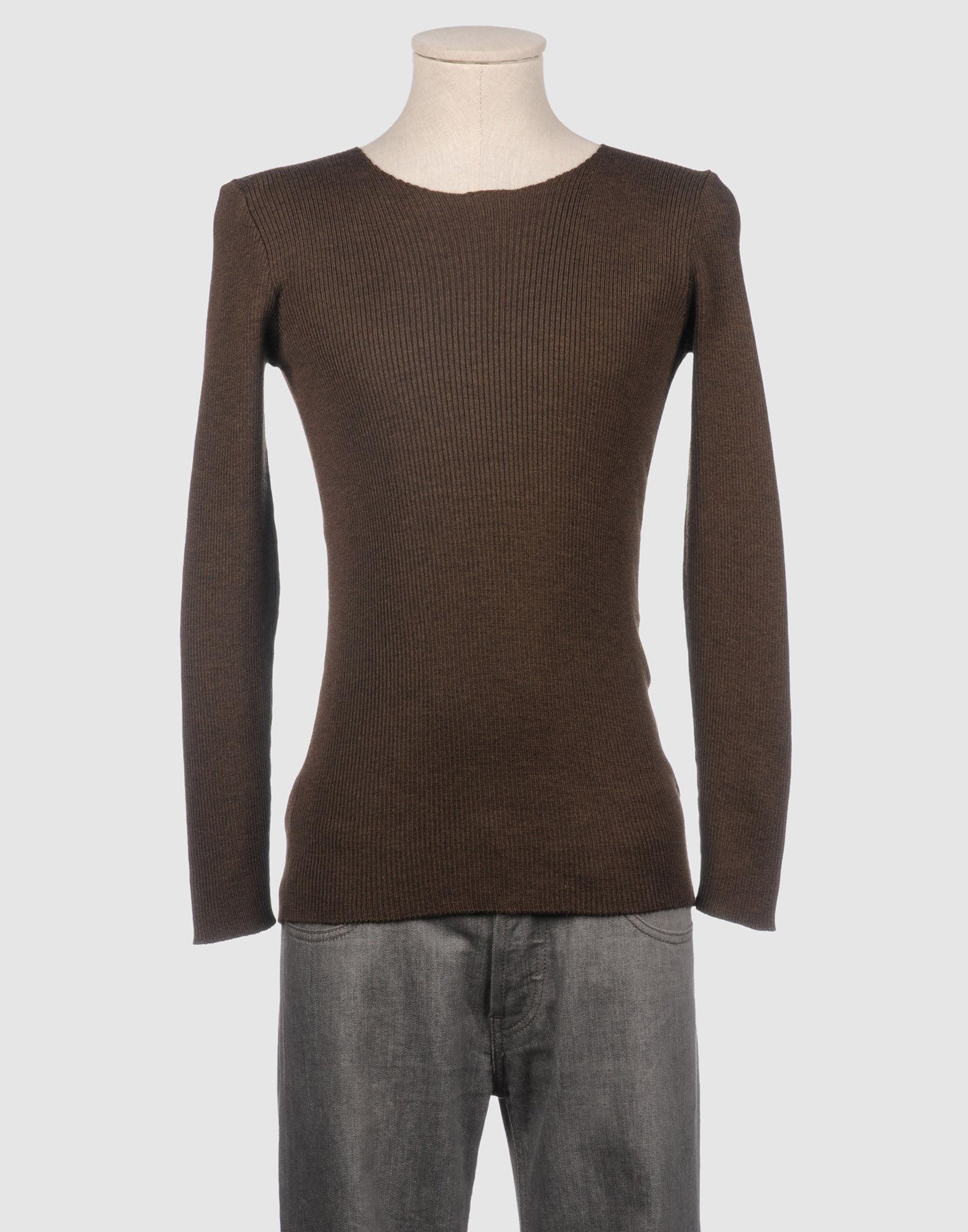 GIULIANO FUJIWARA Crewneck Sweater in Dark Brown