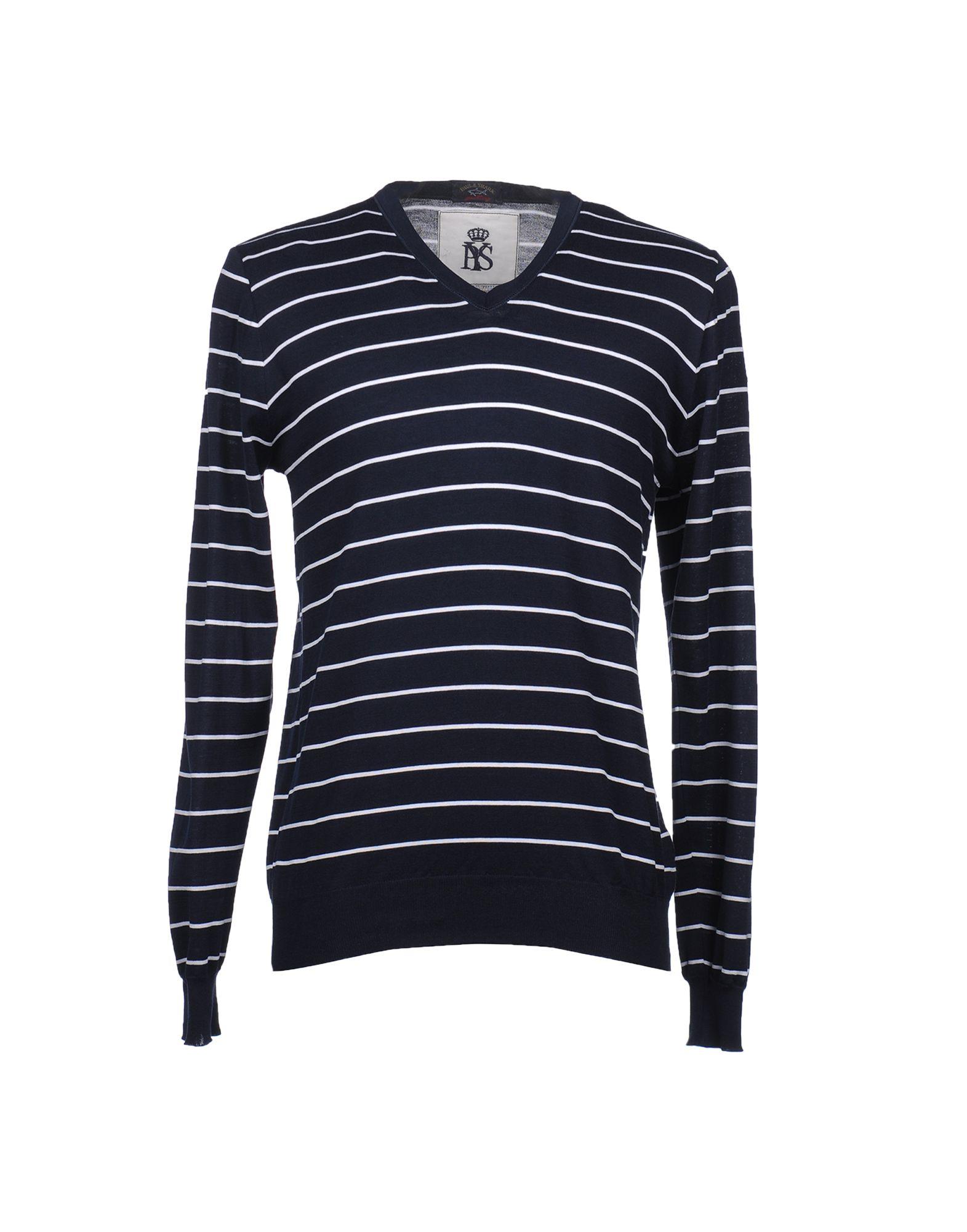 Фото - PAUL & SHARK Джемпер с V-образным вырезом пуловер с v образным вырезом в полоску