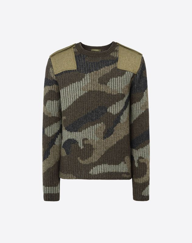 CAMOUFLAGE WOOL SWEATER