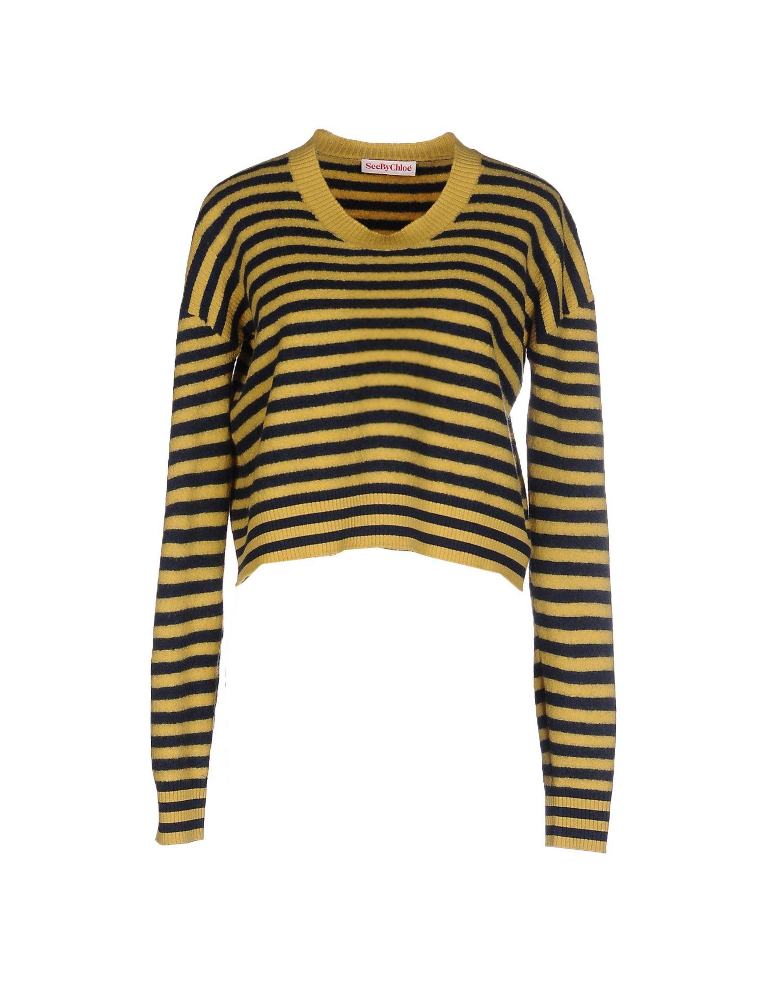 SEE BY CHLOÉ Damen Pullover Farbe Ocker Größe 7